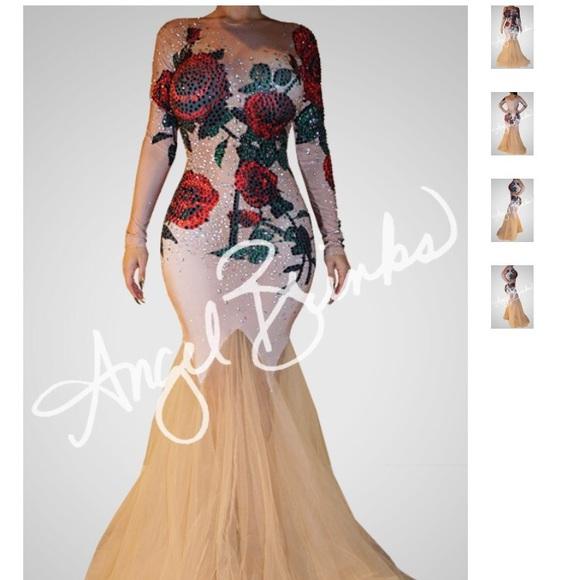 Angel Brinks Dresses Rose Bloom Dress Red W Heels Red Size 9